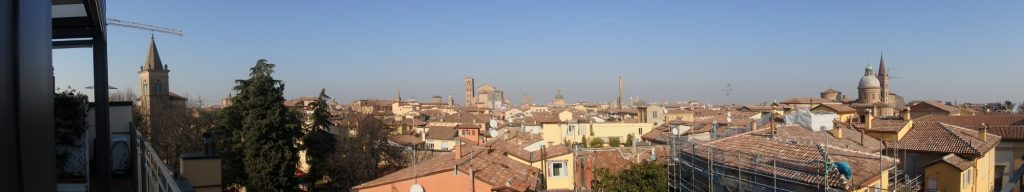 This panorama includes about half the view from the Hotel Touring rooftop terrace.