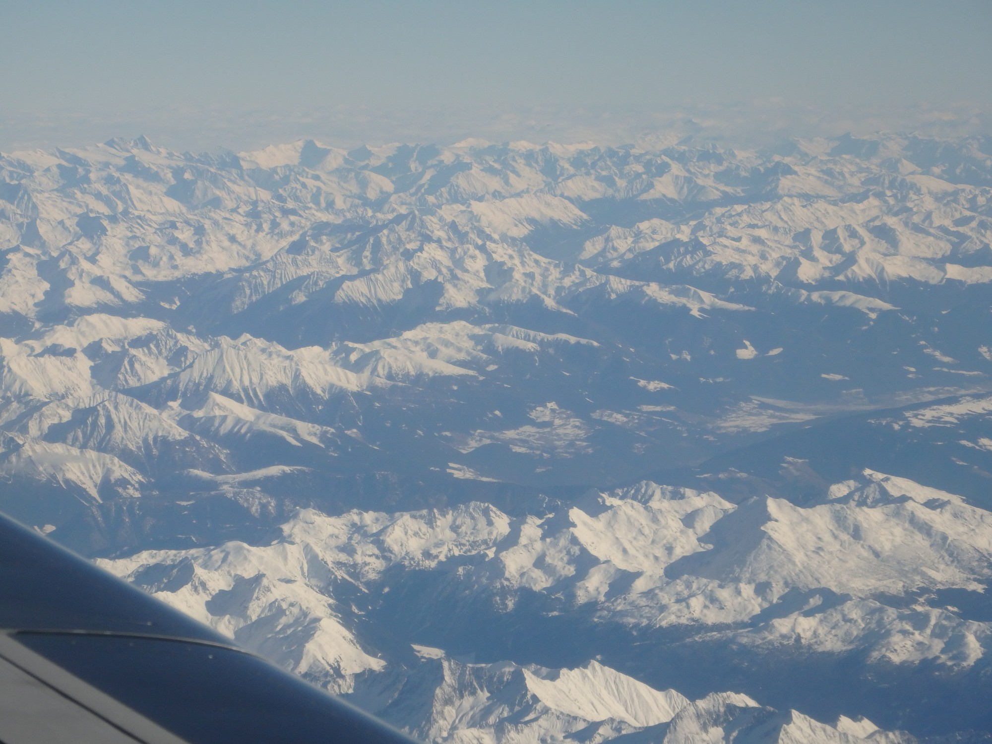 a view of the Italian Alps. The flight time that our pilot spends here would not count as US-earned.
