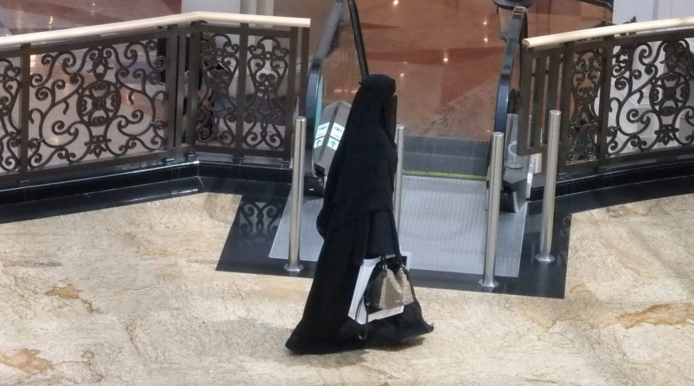 a woman shopping at the Mall of the Emirates in Dubai