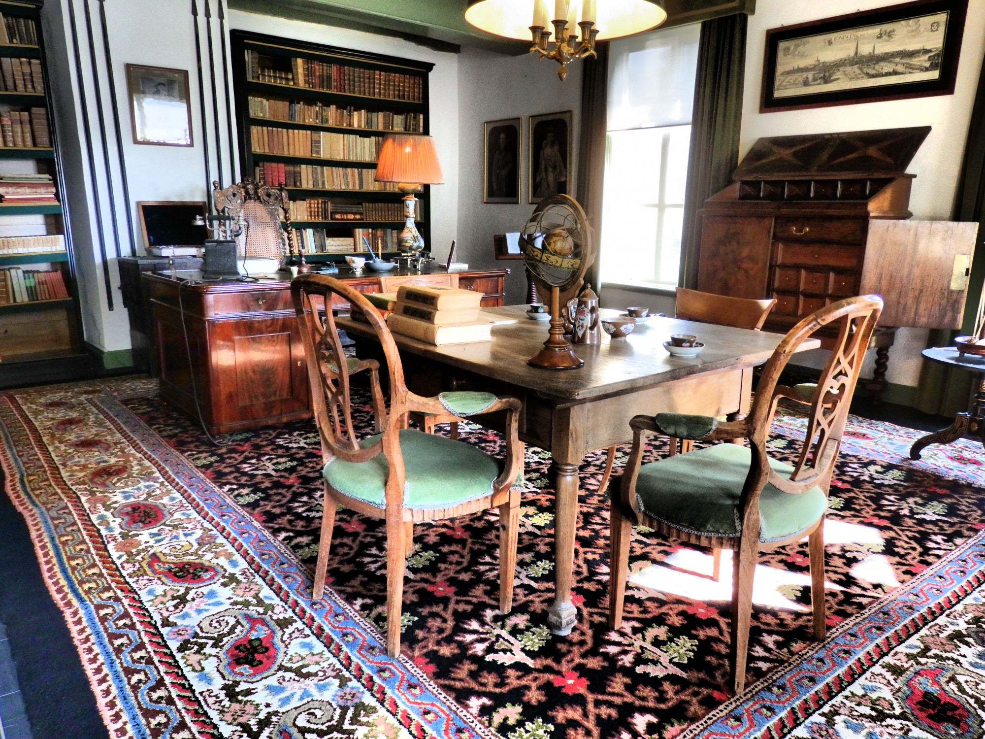 The library at Fraeylemaborg, in Slochteren, the Netherlands