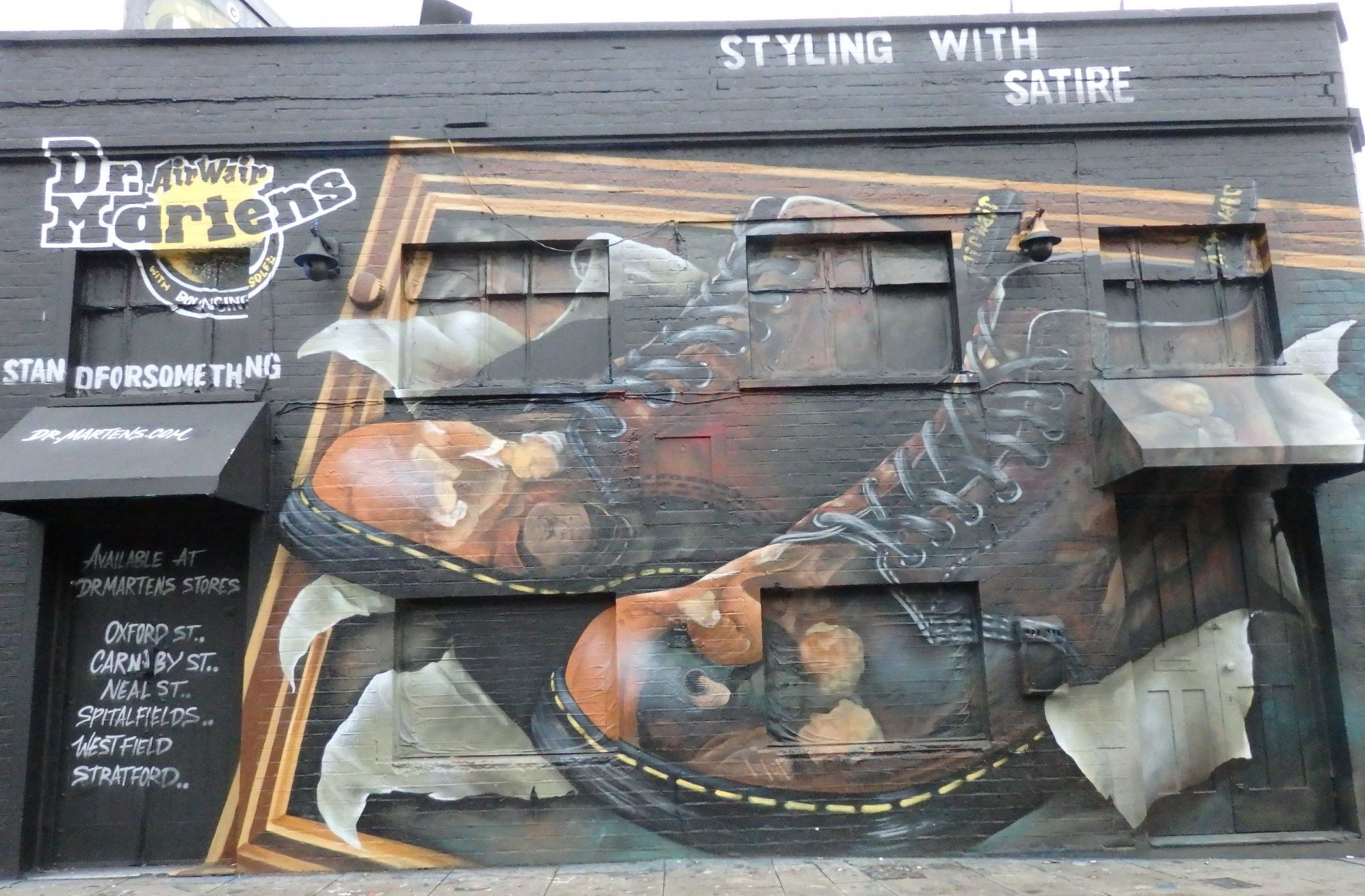 a Doc Martens store in Shoreditch, London