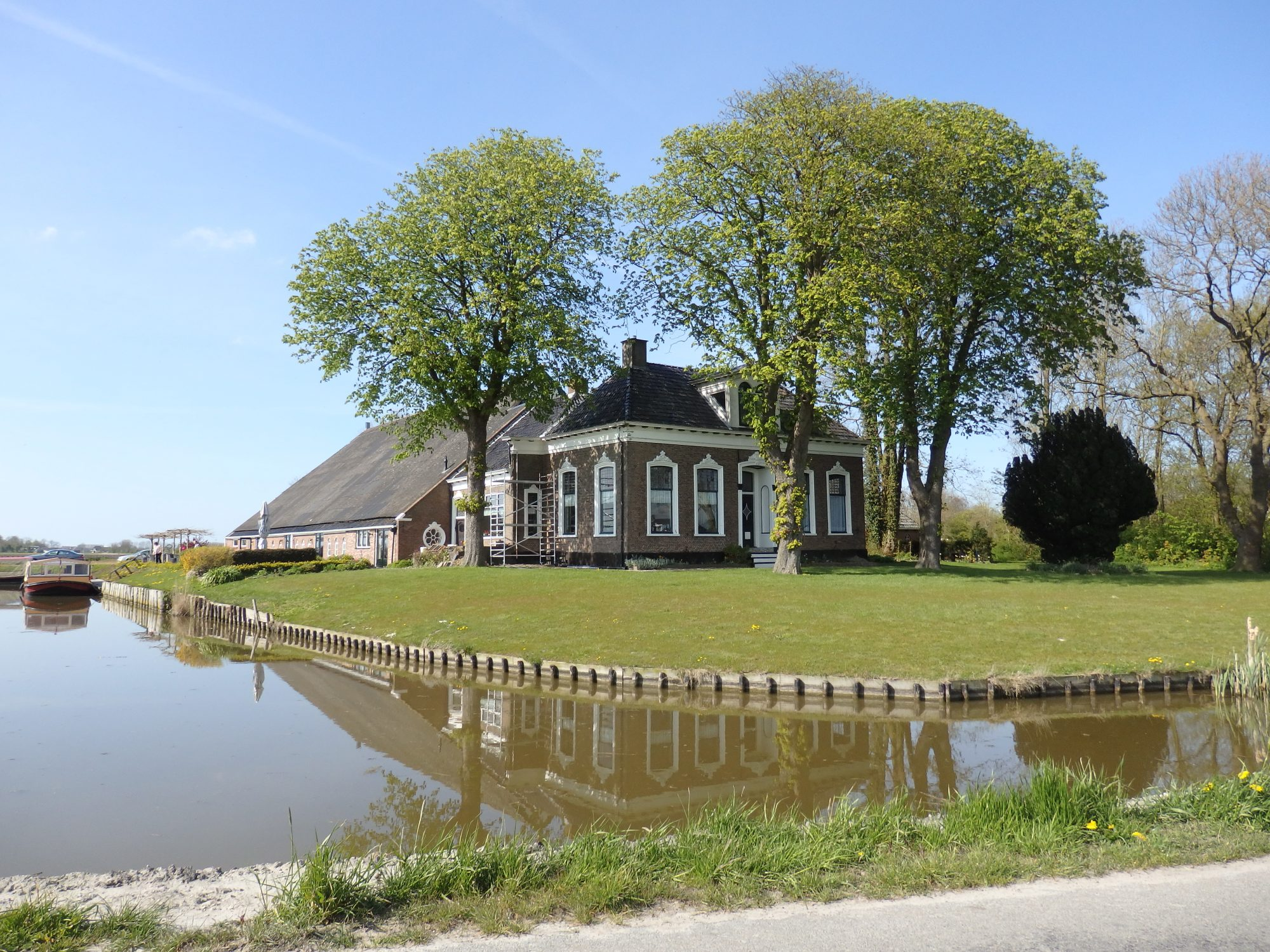 a farmhouse Groningen province. The barn end has been converted to a restaurant of some sort.