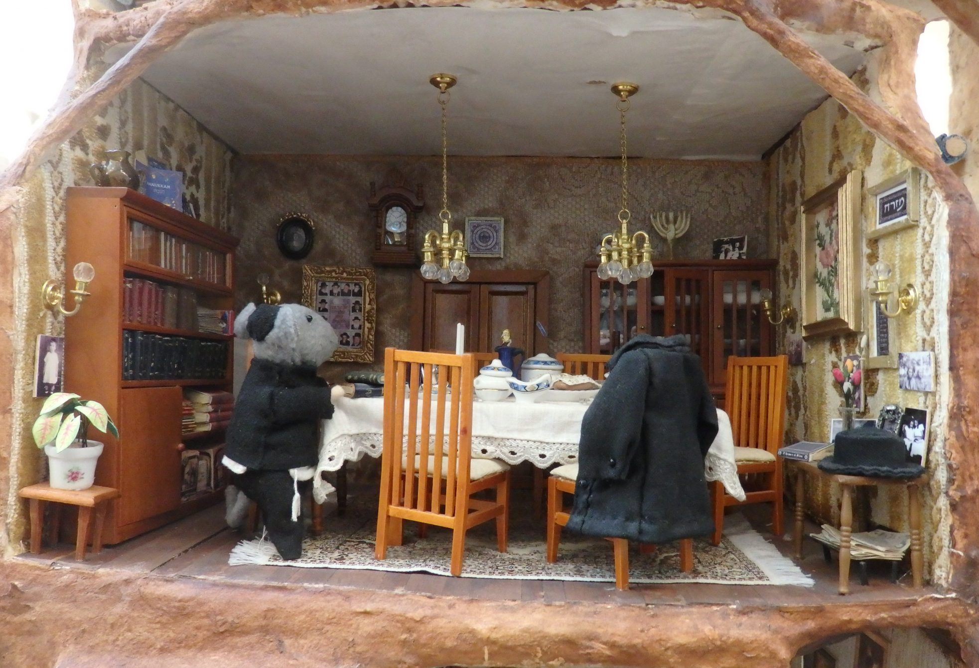 Hasids dining room in the Mouse Mansion in Amsterdam public library