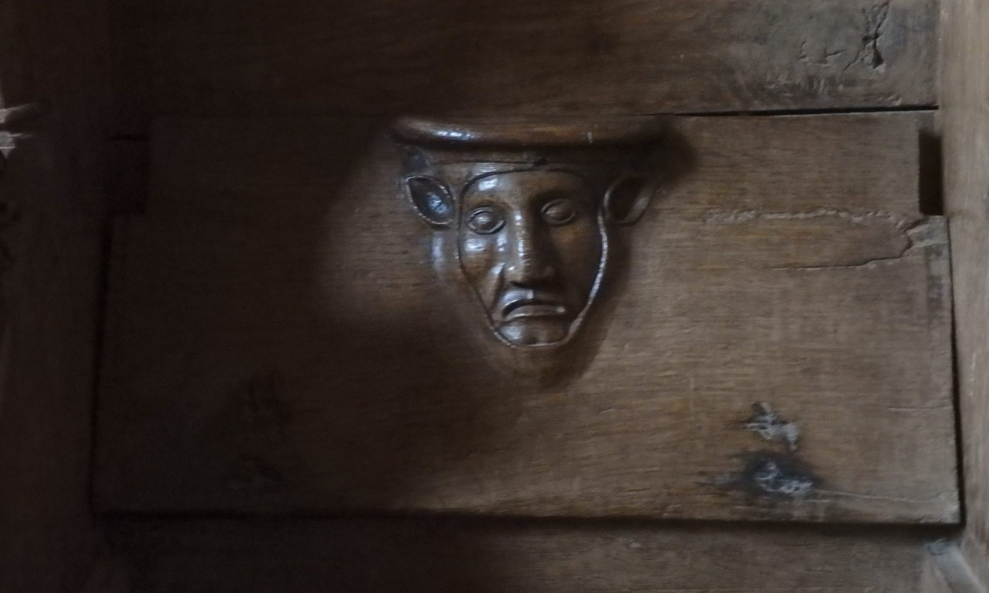 a misericord at Klooster Ter Apel in the Netherlands