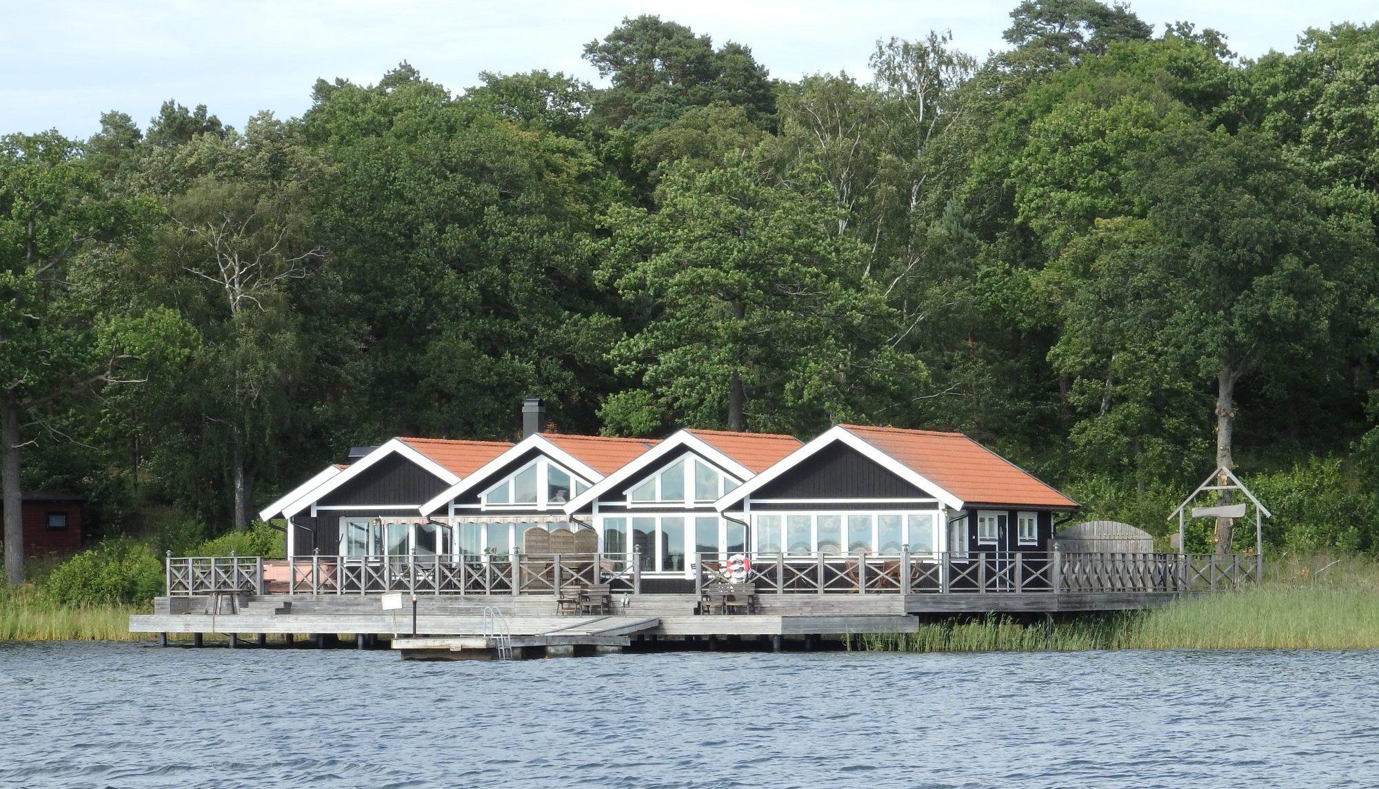 The sauna building on Nasslingen Island, Sweden