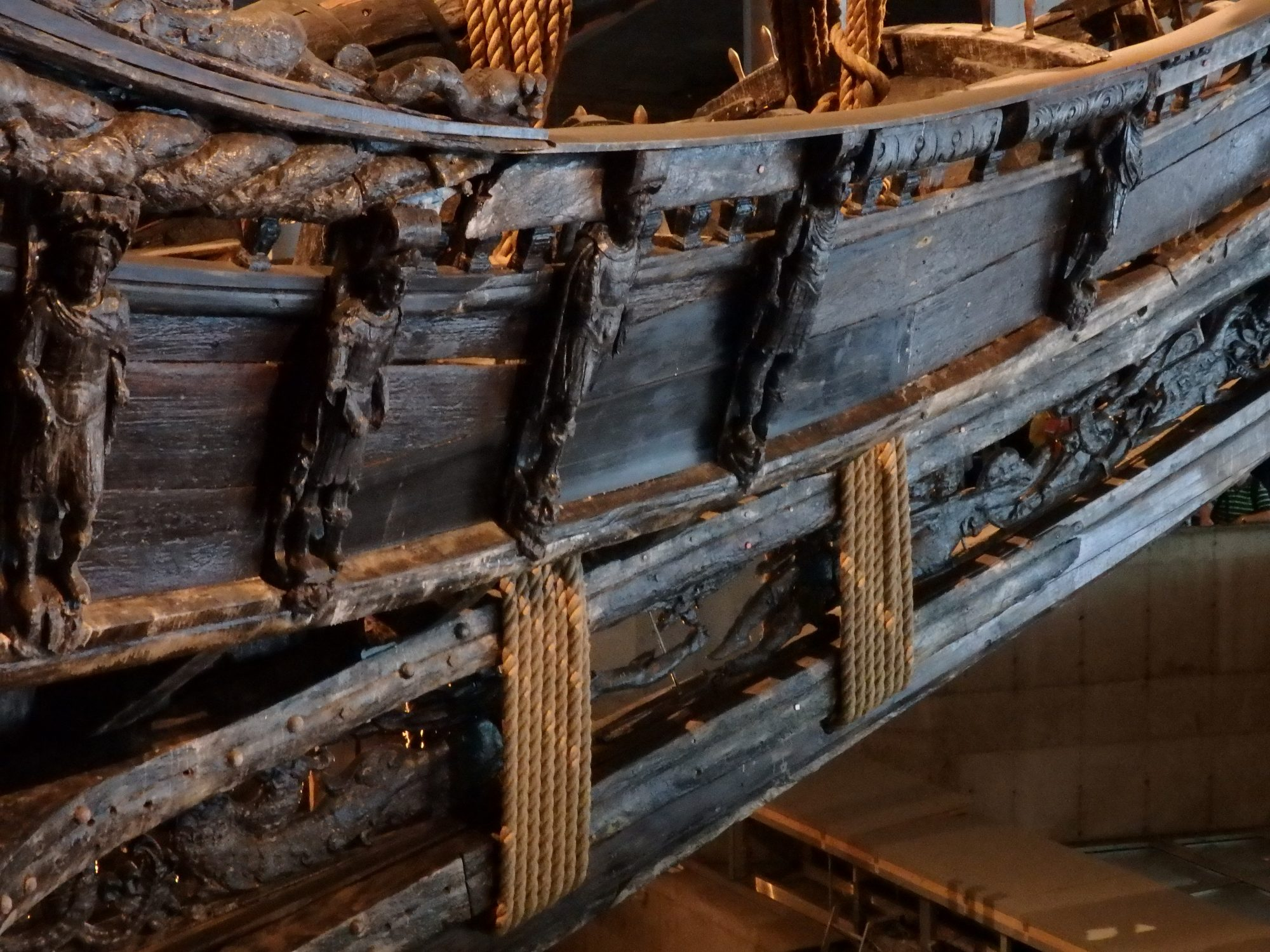A row of carvings of Roman Emperors on the Vasa: Stockholm, Sweden