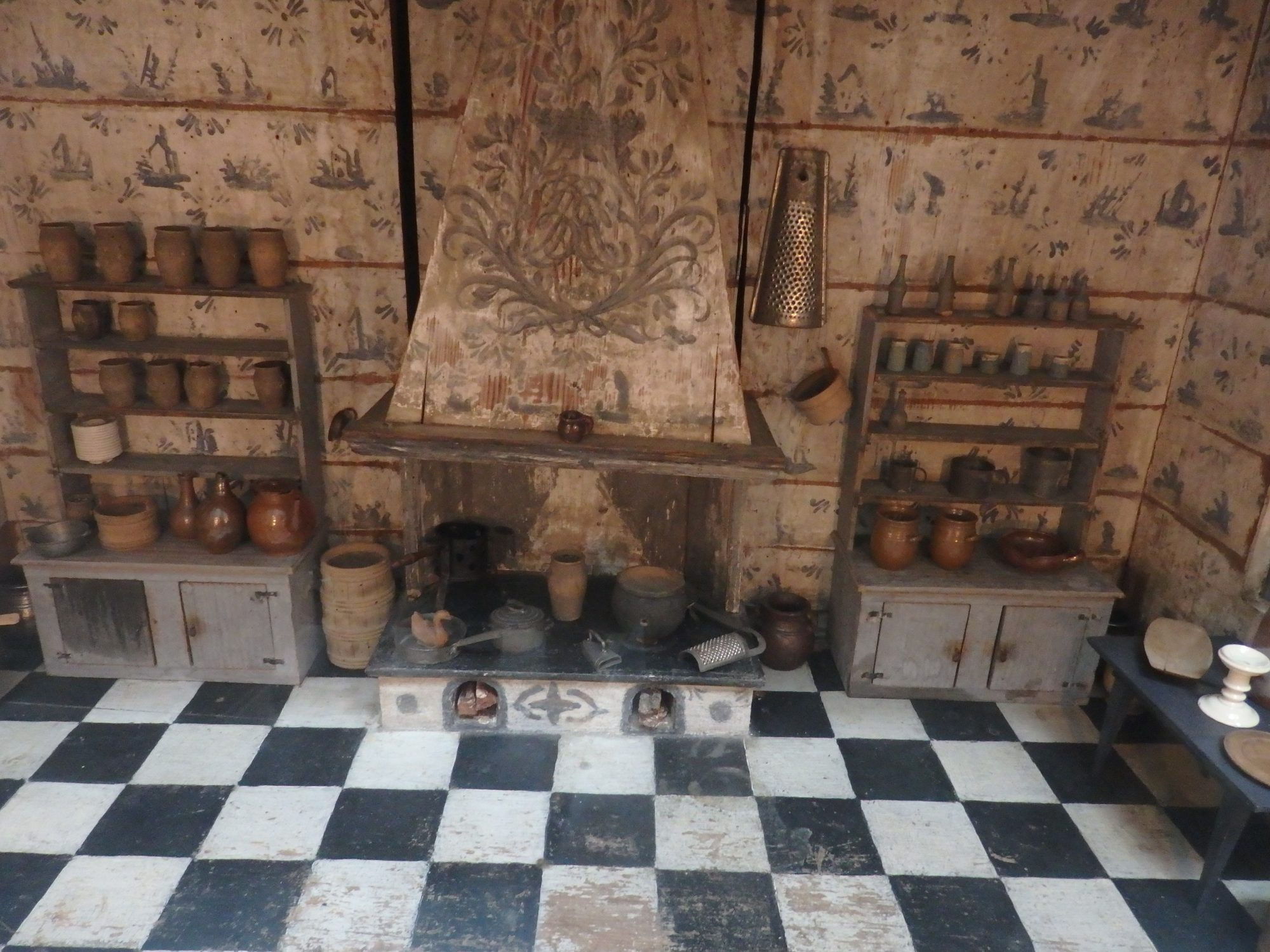 The kitchen from one of the dollhouses in the Nordic Museum, Stockholm, Sweden