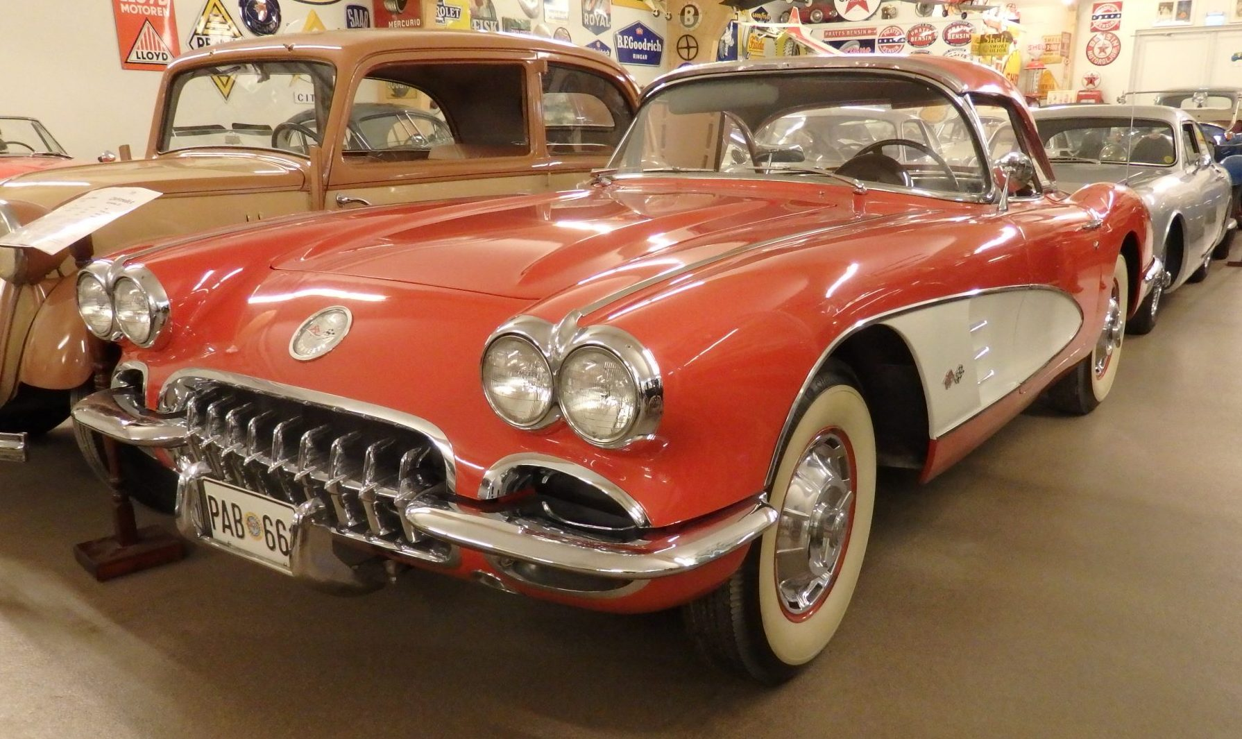 """""""my"""" corvette in the Sparreholms manor car museum in Sormland, Sweden"""