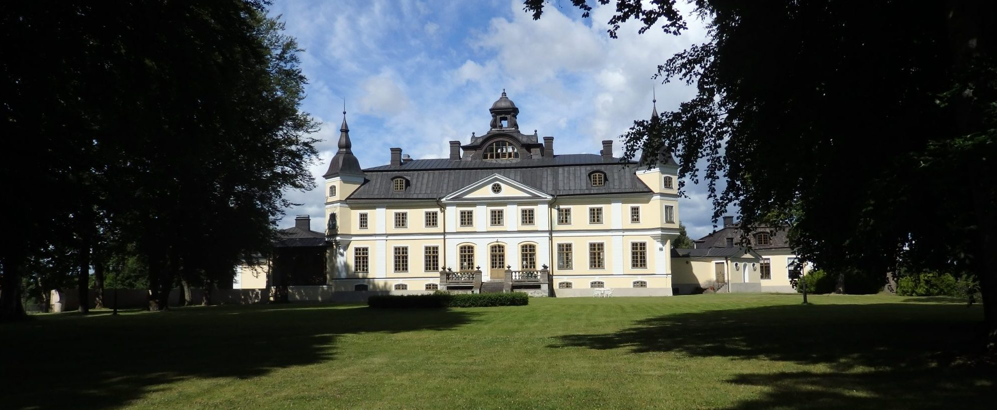 Rear view of Sparreholms manor in Sormland, Sweden