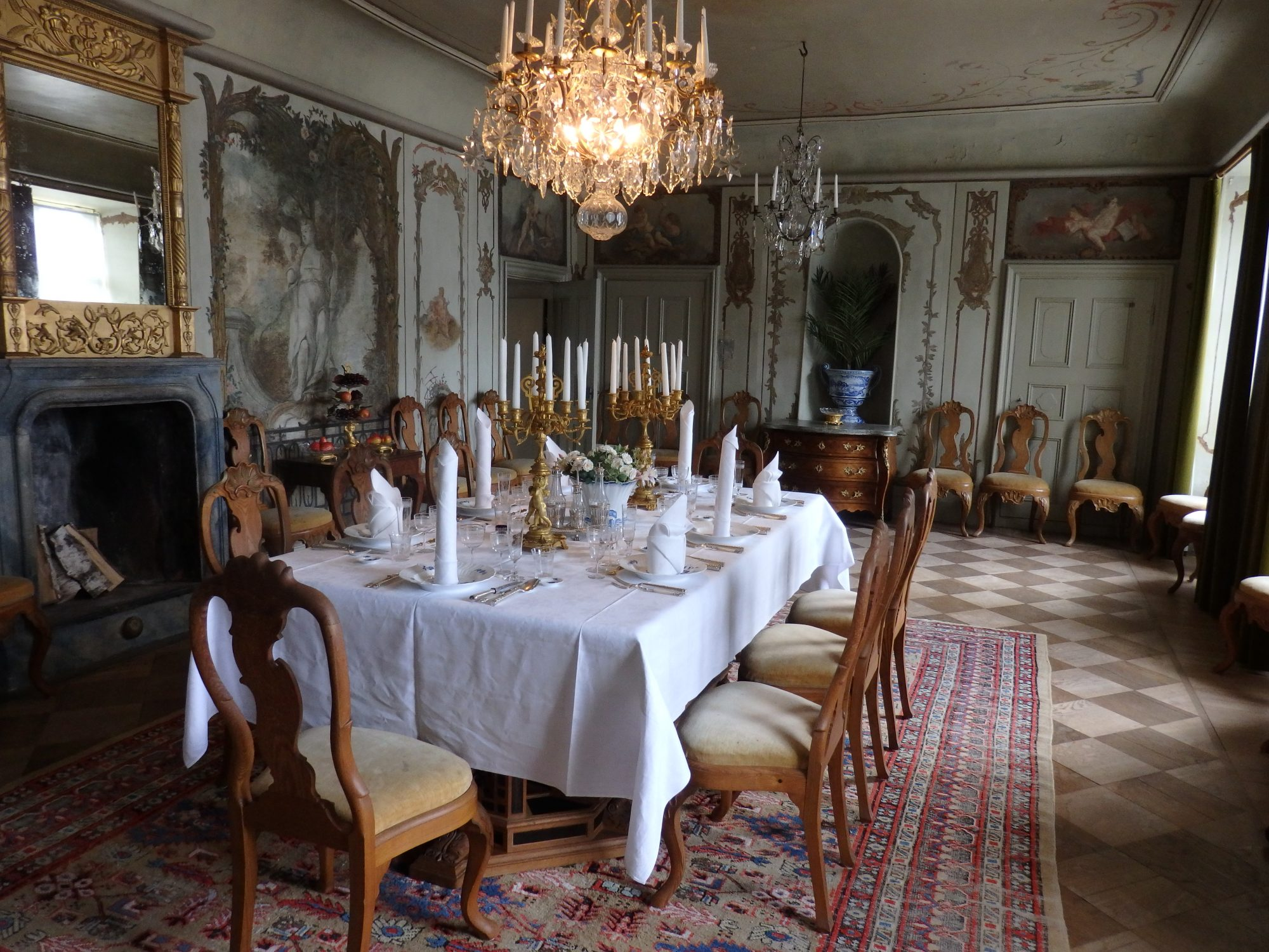one of the many fully-furnished rooms of the manor house at Julita estate, Sweden