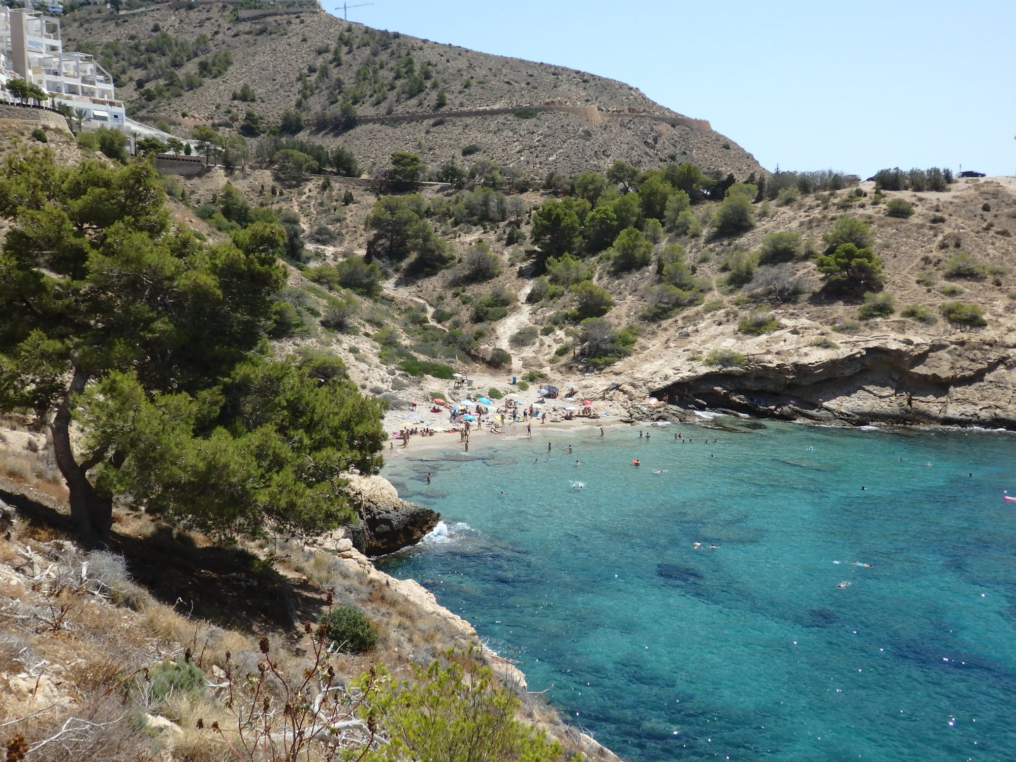 Cala Almadrava Beach outside Benidorm. Look how clear the water is!