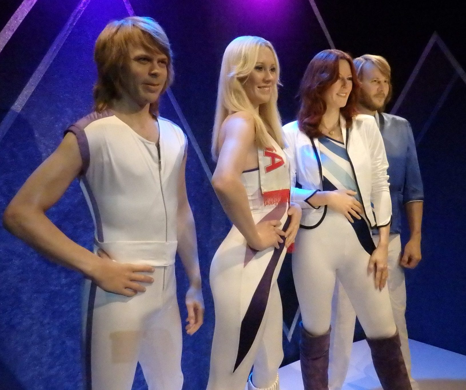 ABBA, or rather, wax figures of them, in ABBA The Museum in Stockholm