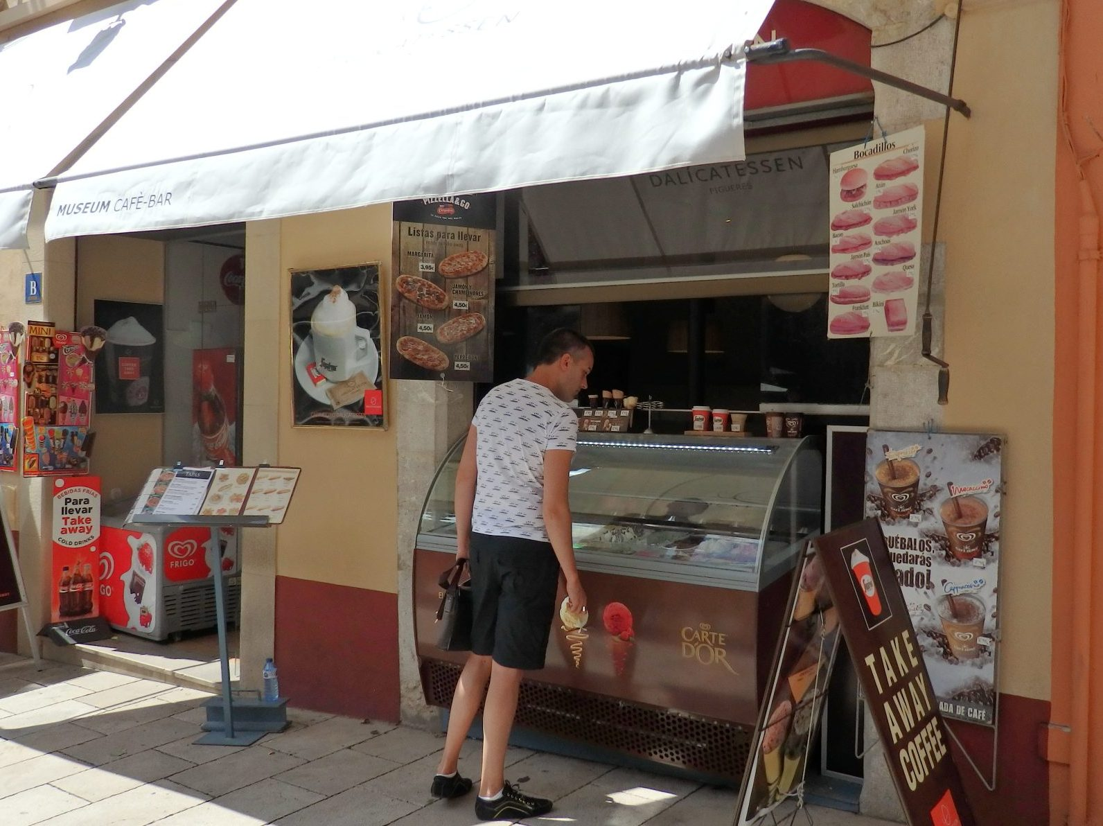 """""""our"""" ice cream stand in Figueres, Spain"""