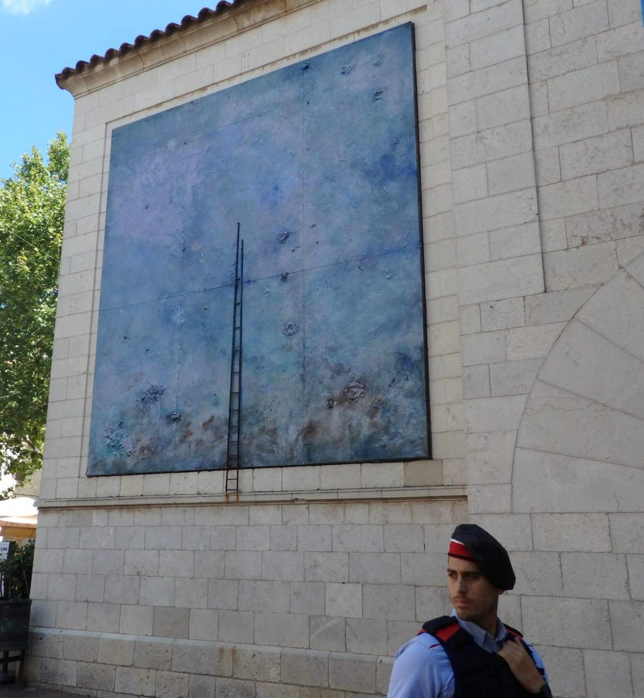 This artwork is just to the left of the tourist information office in Figueres, Spain.