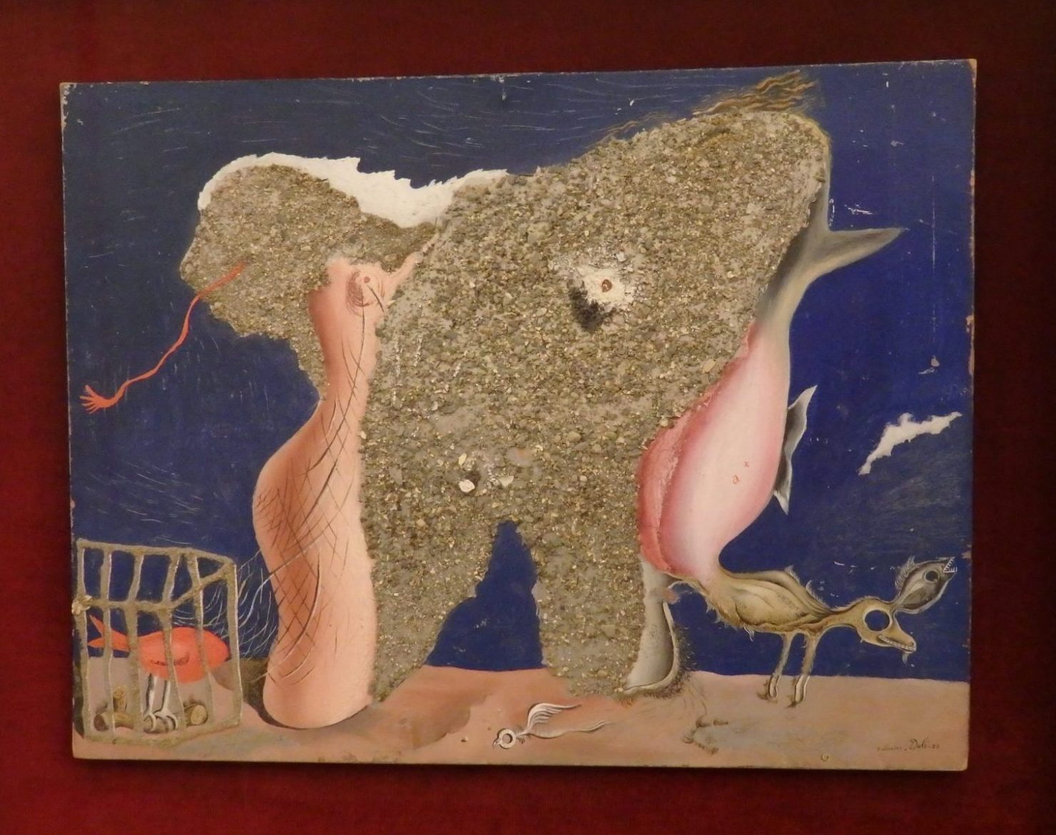 "The title of this painting is ""Woman-Animal Symbiosis."""