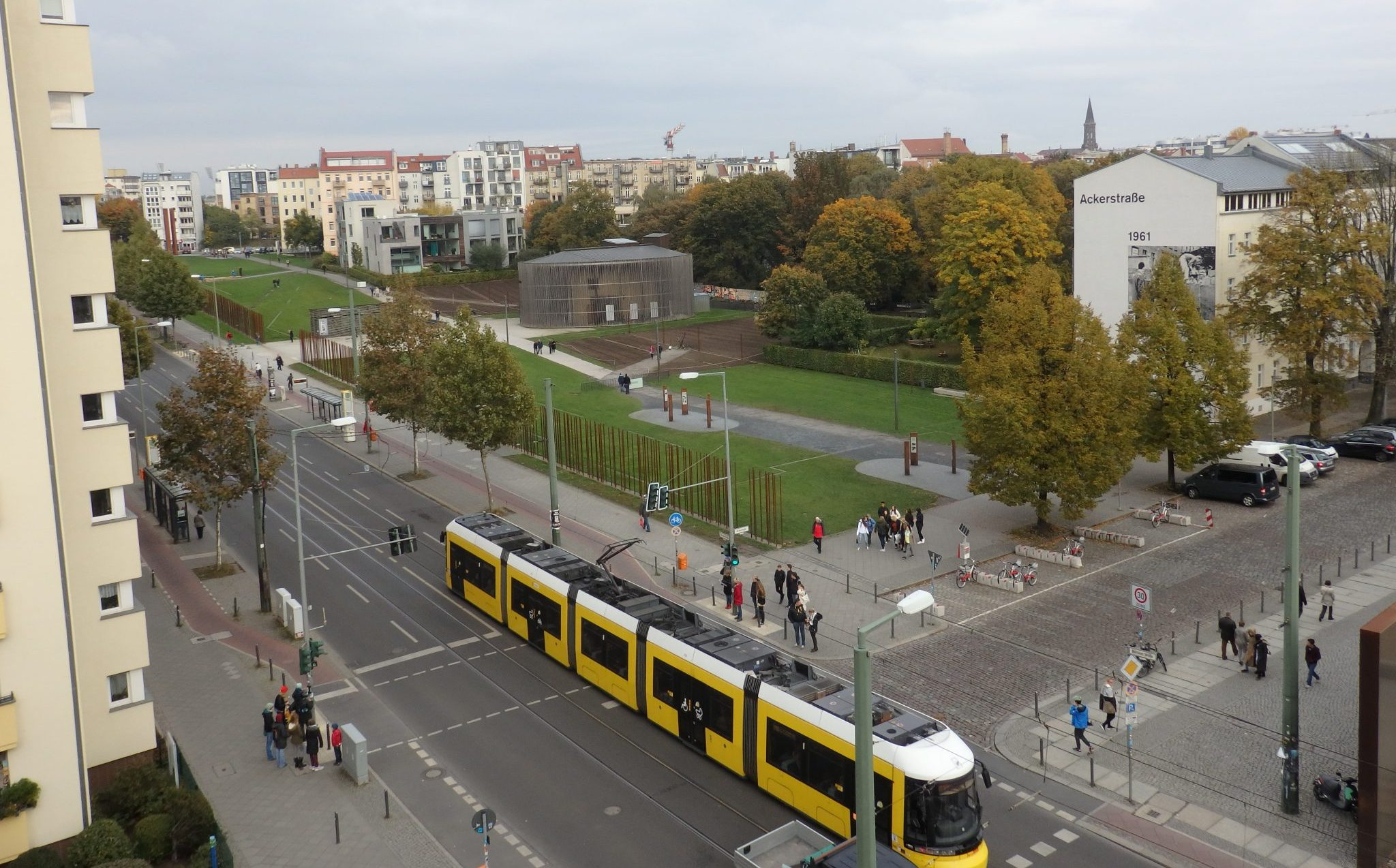 In this view, you can see a section of the Berlin Wall Memorial.