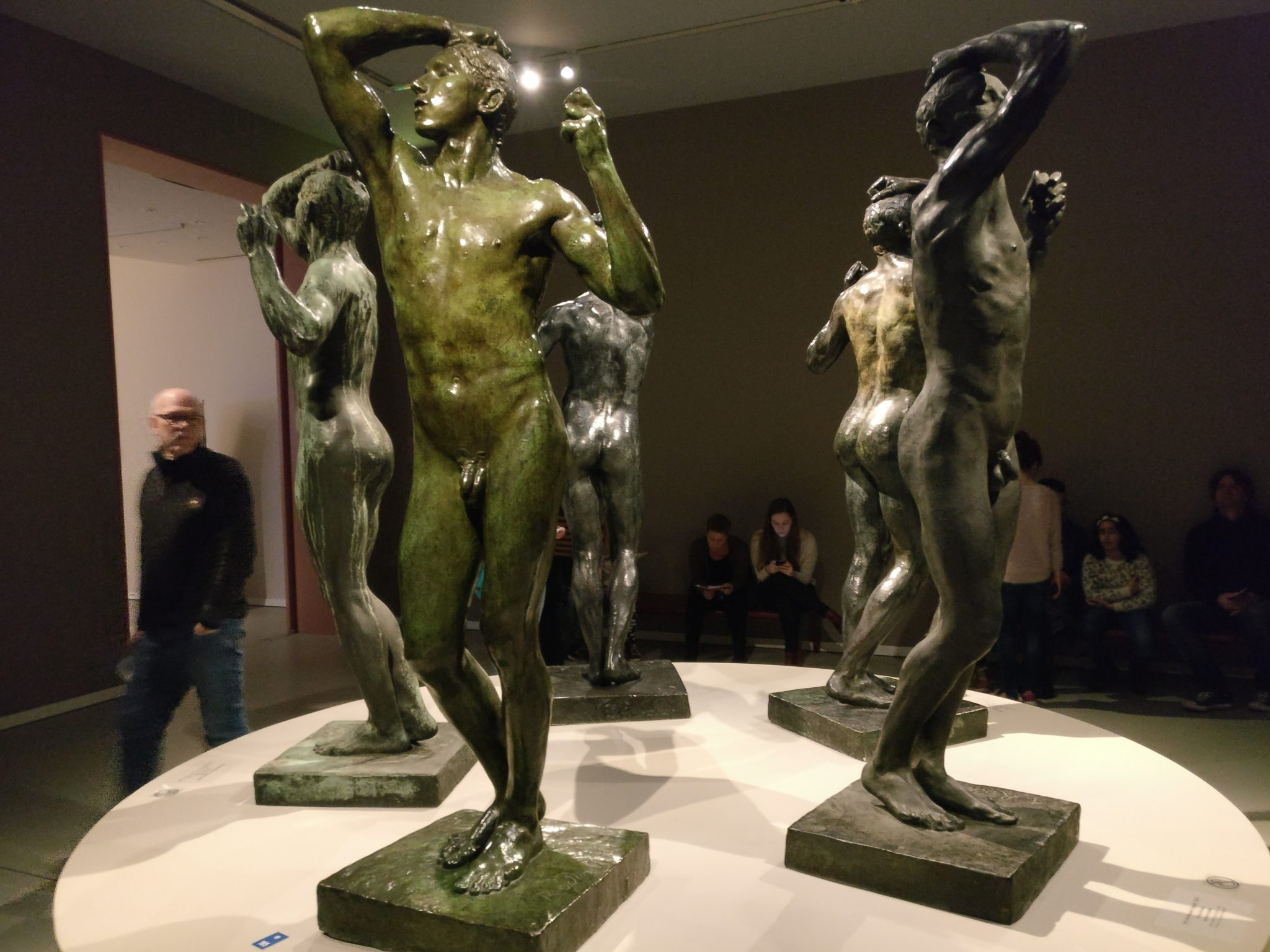 The Age of Bronze by Rodin: 1876, but all cast in different years.