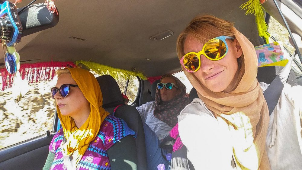 That's Alice on the left, during the Mongol Rally. Photo courtesy of Alice Nettleingham