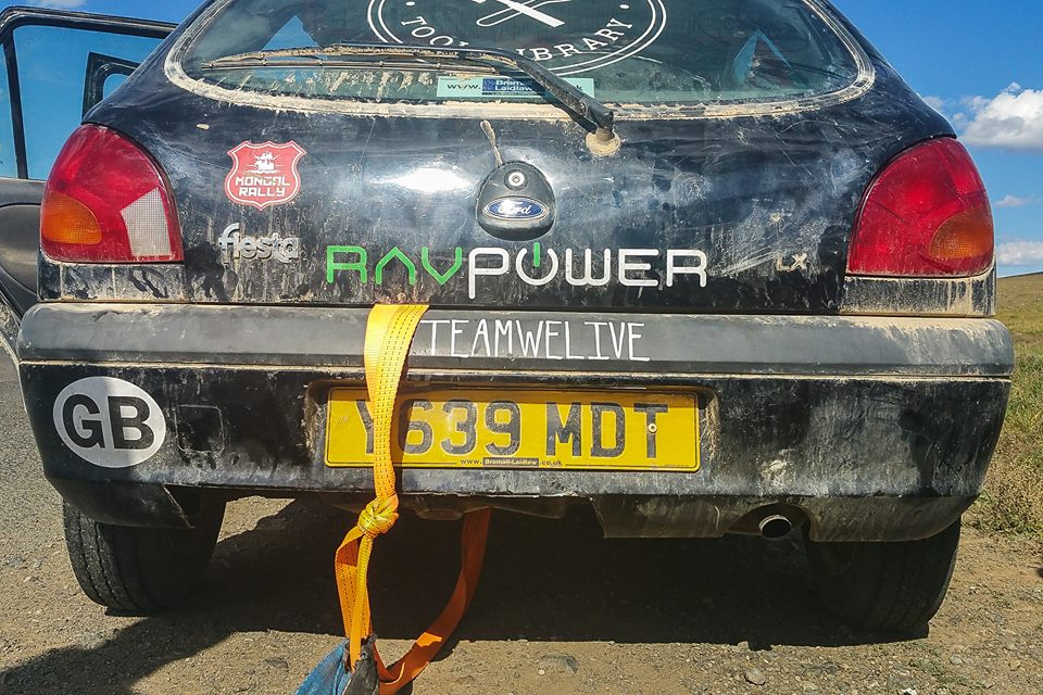 The #WeLive team car. Photo courtesy Alice Nettleingham