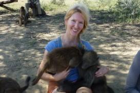 Maria Hart and monkeys