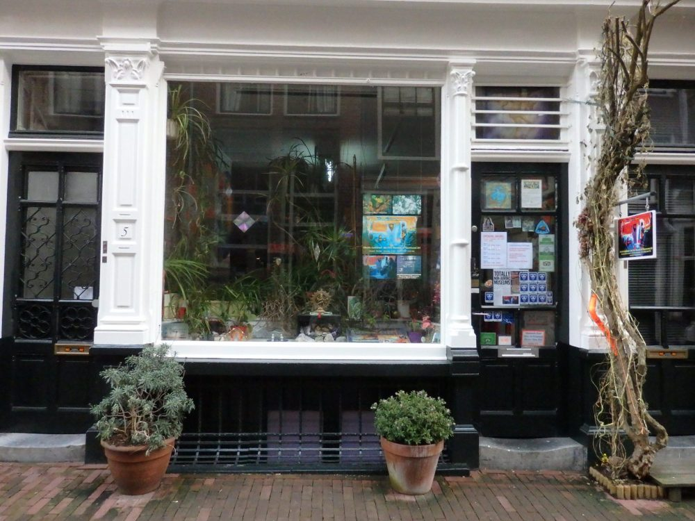 Electric Ladyland as it looks from the street in Amsterdam
