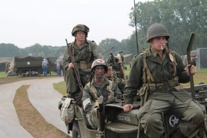 Travel the Liberation Route Europe to see an Operation Market Garden reenactment in Arnhem, the Netherlands.