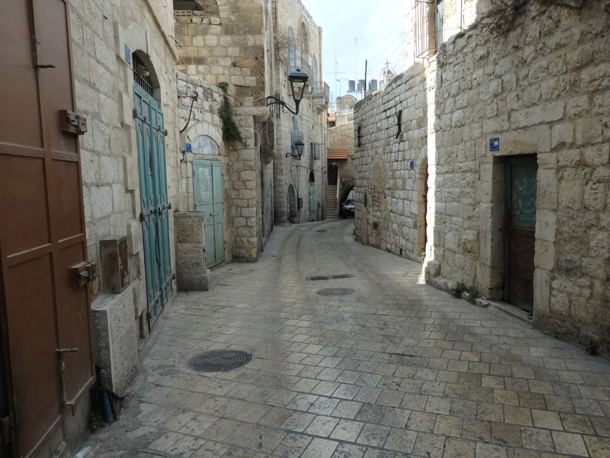 a street in the old part of Bethlehem