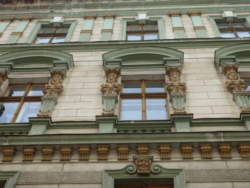 a restored facade. Timisoara photo essay