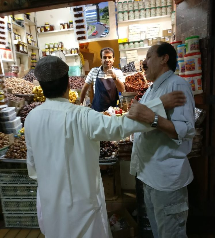 This market trader spotted me snapping a picture, but didn't seem to mind. Kuwait City souk.