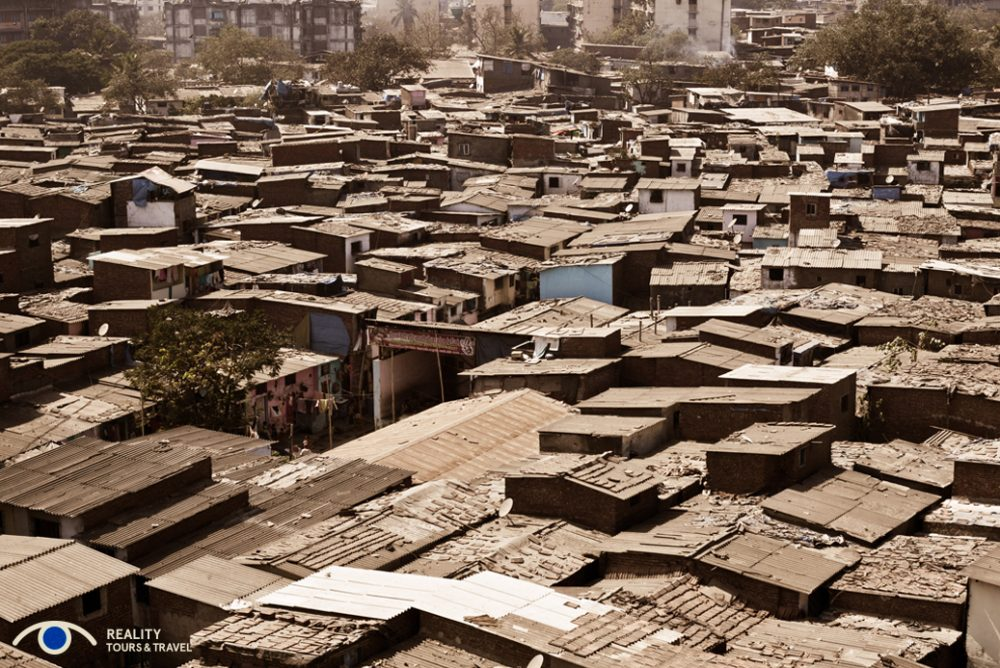 A view over Dharavi rooftops. Photo courtesy of Reality Tours.