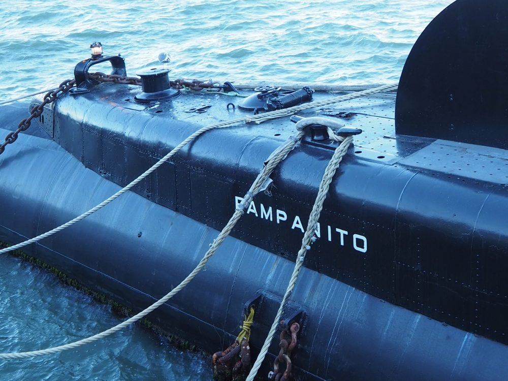 The bow of the USS Pampanito