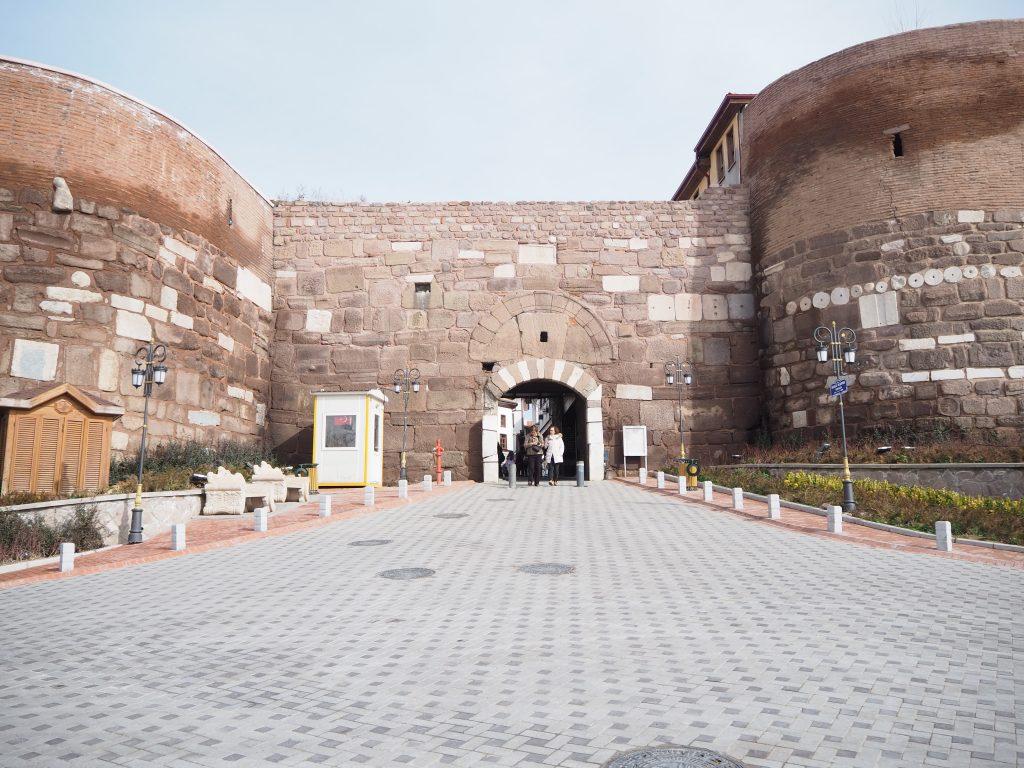 Entrance gate to Ankara castle