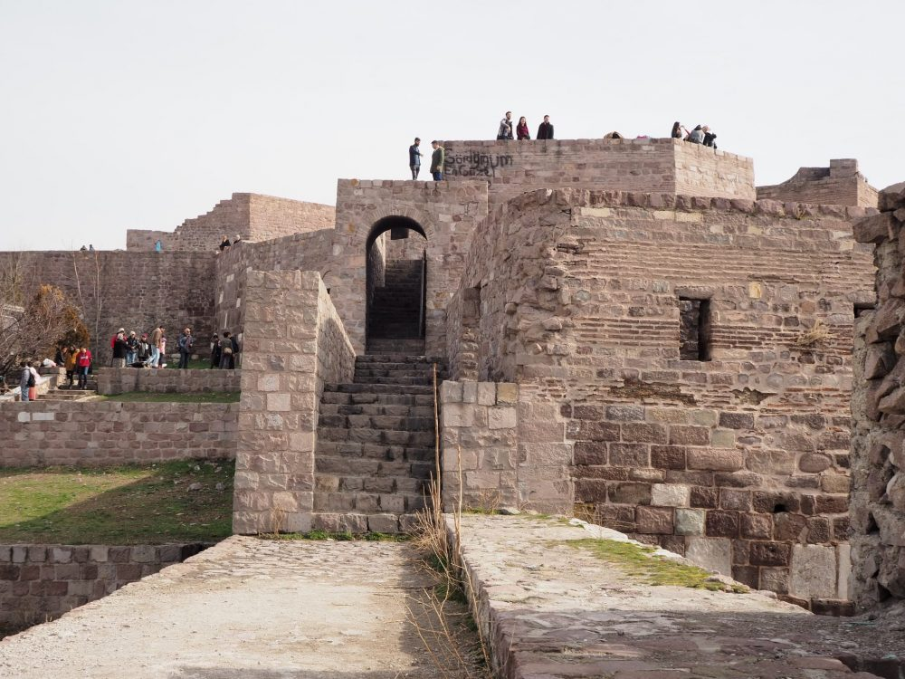 Some of the inner walls of Ankara Castle. One Day in Ankara, Turkey.