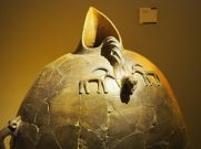 beautifully formed clay vessel in the Museum of Anatolian Civilizations