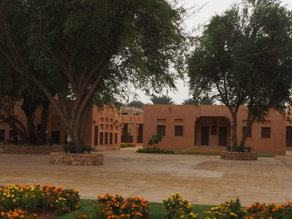 One of many pleasant courtyards inside the Al Ain Palace Museum grounds.