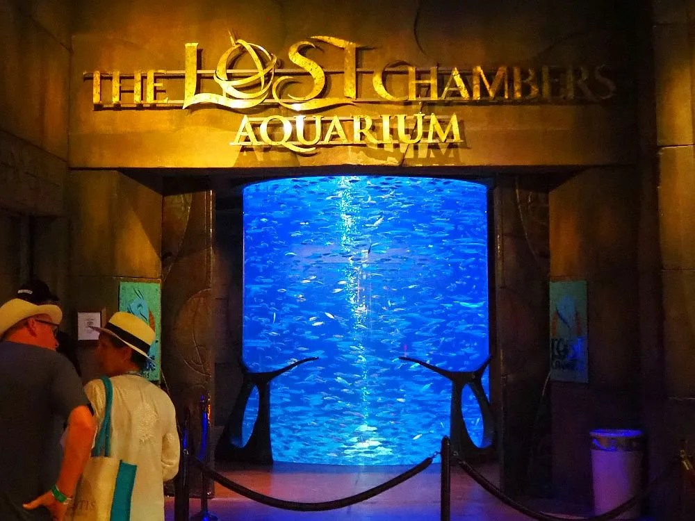 """The entrance to The Lost Chambers Aquarium, which might be better named """"Atlantis Aquarium"""""""
