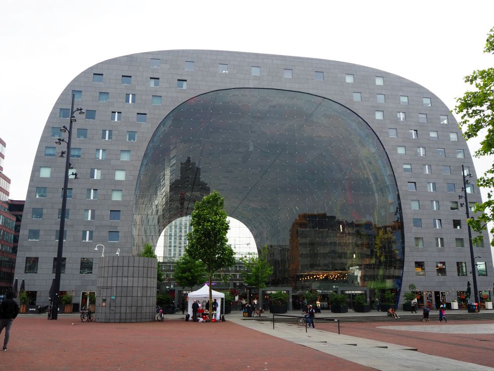 The Markthal is a good place to stop for lunch on your self-guided Rotterdam walking tour.
