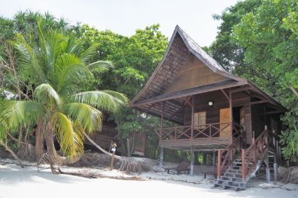 Our chalet at Lankayan Island Dive Resort.