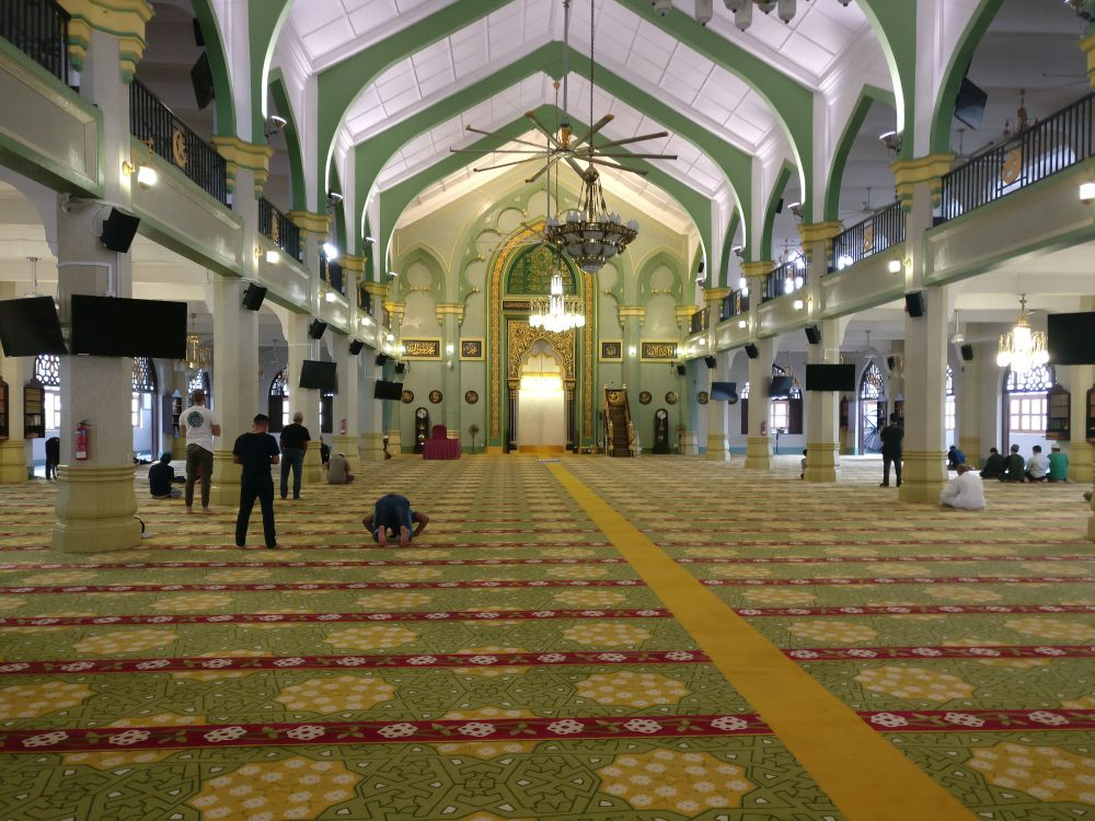 The inside of Sultan Mosque