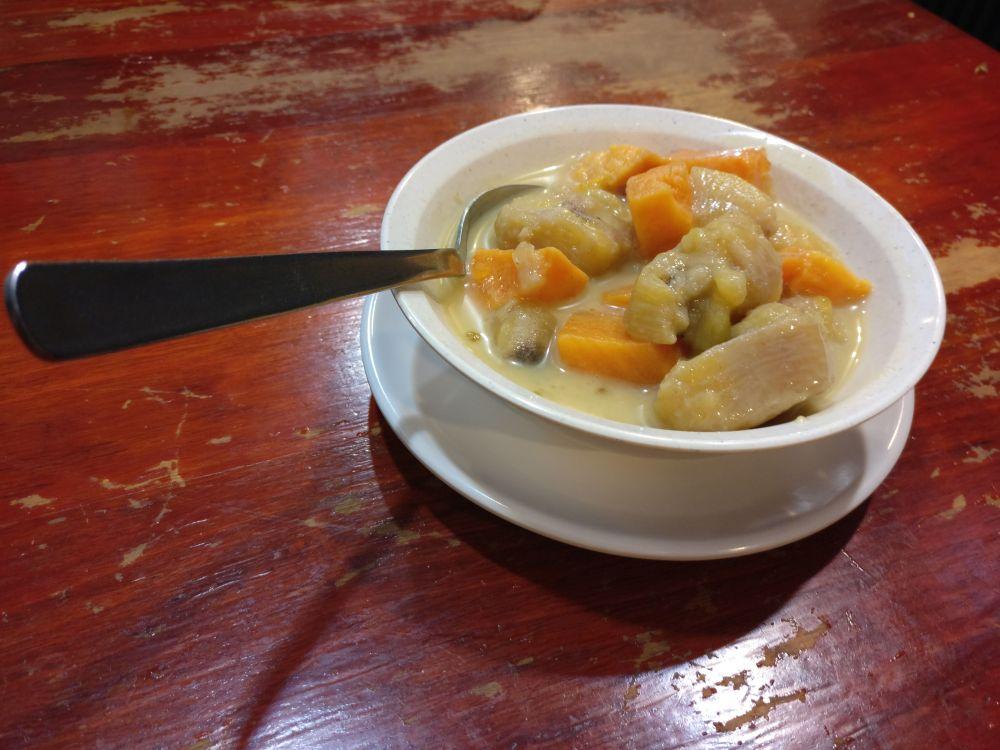 Banana sago porridge: not our favorite