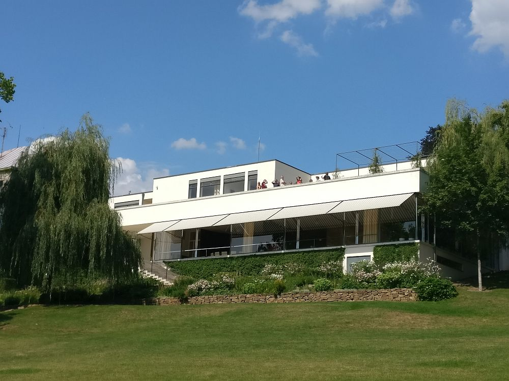 Villa Tugendhat as seen from the back garden. It is one of the UNESCO sites in the Czech Republic.