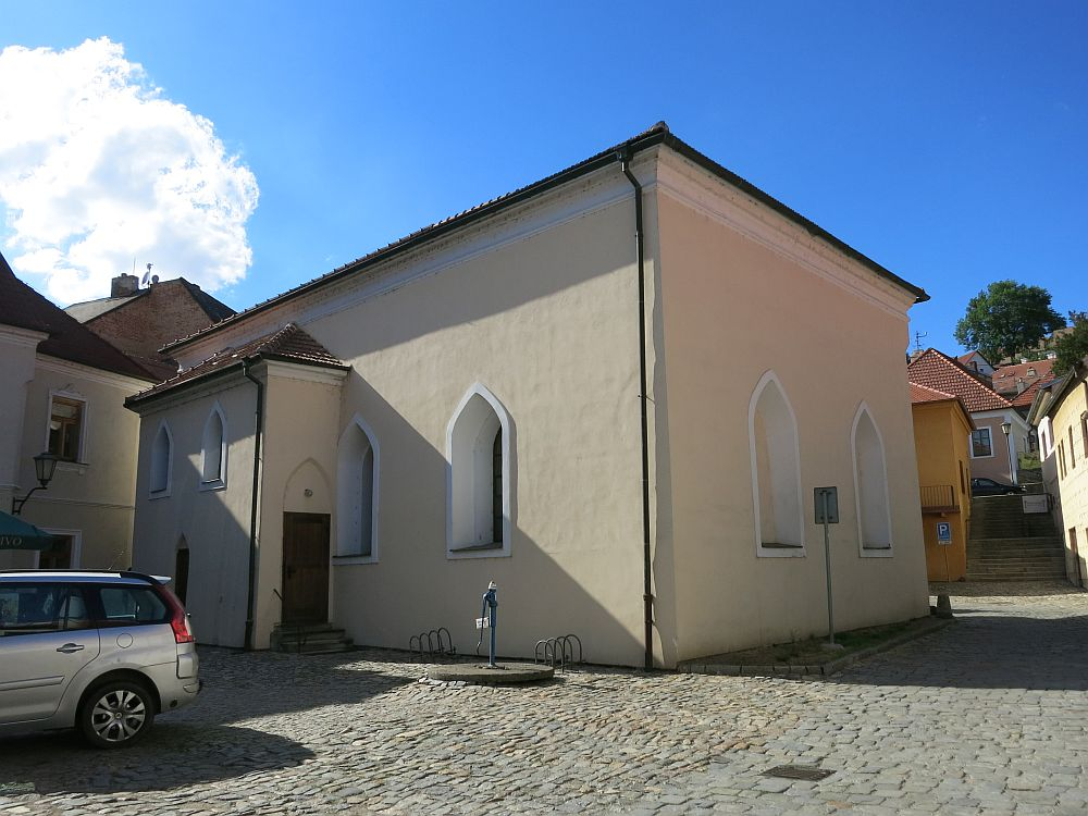 This 17th century synagogue is now home to the Czechoslovakian Hussite Church. What to see in Trebic, Czech Republic