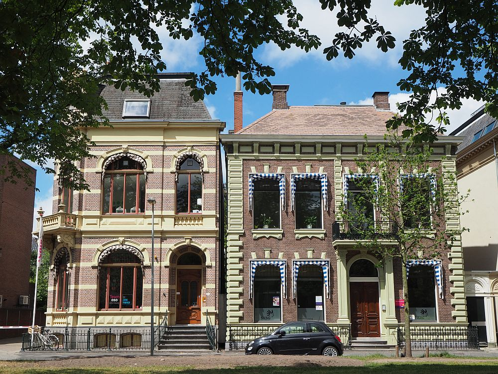 Some pretty houses in downtown Groningen (No, I live in a much less pretty, but very Dutch, row house!)