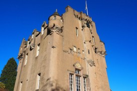 The tower part of Crathes Castle in Aberdeenshire, Scotland.