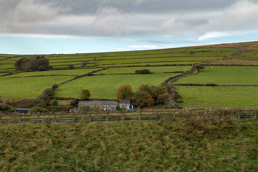 a view of Bodmin Moor in Cornwall, where Dozmary Pool is, and where King Arthur may or may not have received Excalibur.