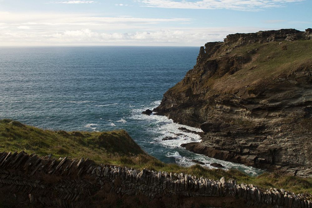 A view of the sea from the Tintagel site.