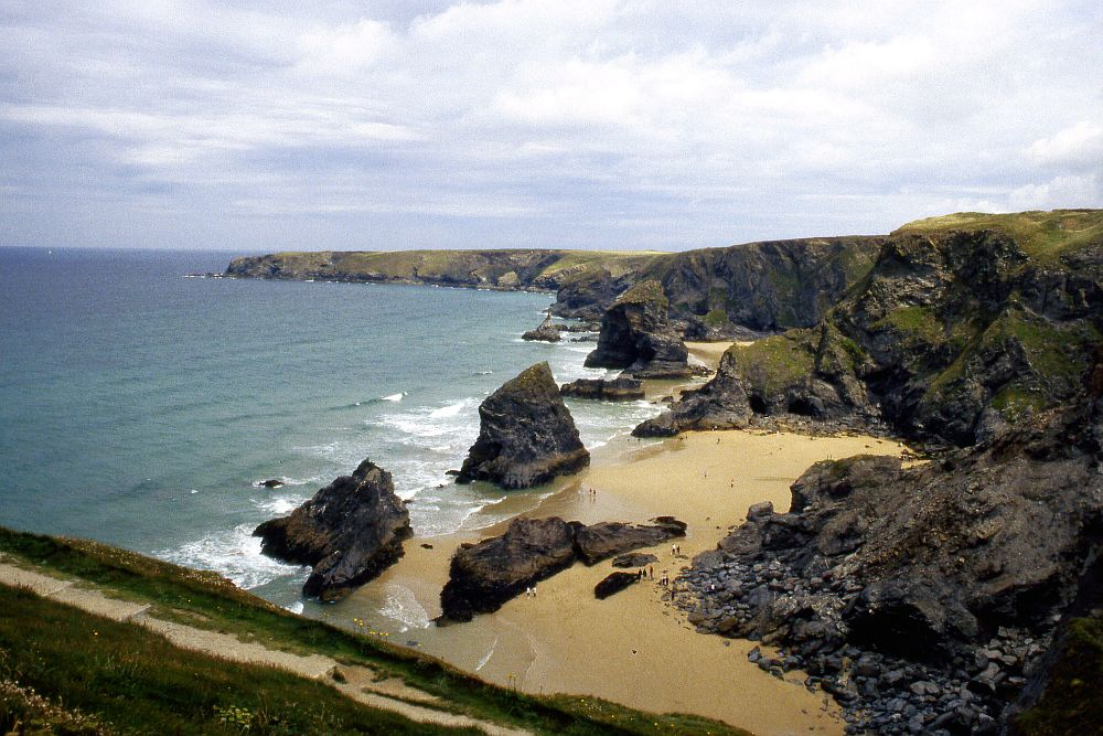 The rocky coast near Tintagel Castle somehow fits the legends of King Arthur in Cornwall.