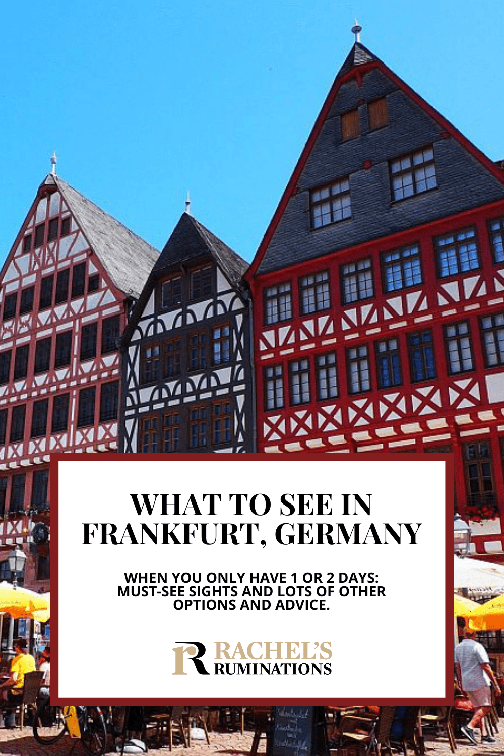 You'll only have a short time in Frankfurt? This article will help you decide what to see in Frankfurt in 1-2 days: must-sees and lots more options and ideas so you can make the best of a short city trip! via @rachelsruminations