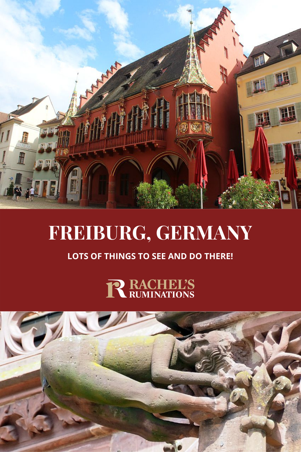 Freiburg, Germany, is a lovely little city with narrow cobbled streets, charming architecture, and a gorgeous cathedral. Read here about all the things to see and do in Freiburg in 1 day. via @rachelsruminations
