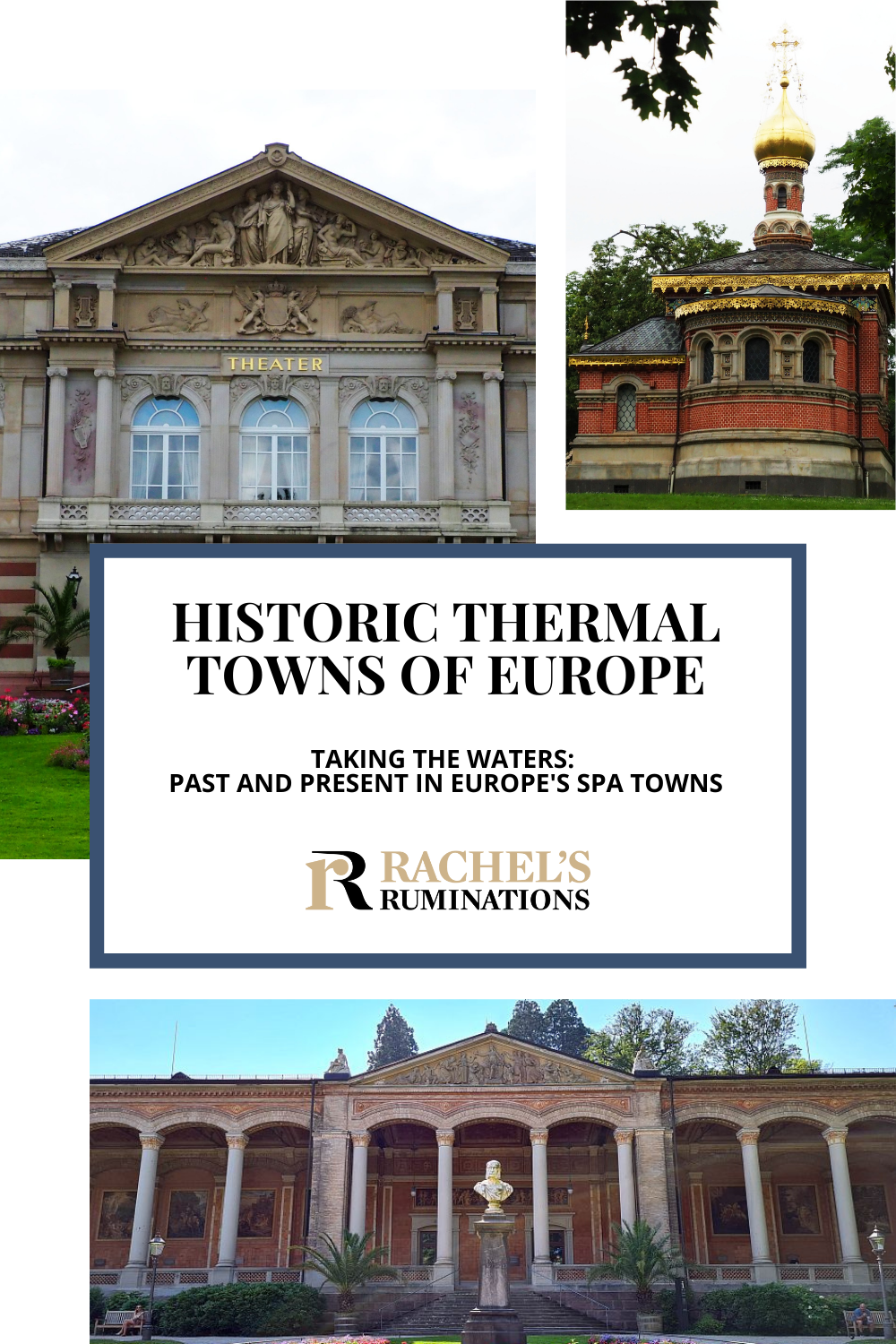 In the 19th century, European hot springs became gathering places for the rich and titled, and the historic thermal towns that grew around them still exist today. Read about them here! via @rachelsruminations